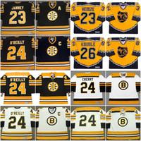 Boston Bruins Jersey 23 Craig Janney 1990 23 Steve Heinze 24 Don Cherry 24 Terry O'Reilly 26 Mike Virtin Vintage Hockey Jersey