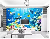 3d صور خلفيات الراقية مخصص جدارية الحرير الجدار ملصق البحر مخلوق البحر العالم خلفية ورق الحائط للجدران papel دي parede