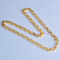 4mm caja de cadenas collar 18k chapado en oro hombres Hip hop joyería regalos collares para mujeres 20 pulgadas Accesorios de moda de lujo con sello 18K