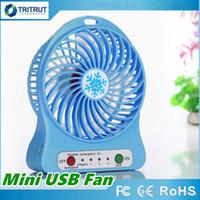 100% Probado Recargable Ventilador de Luz LED Refrigerador de Aire Mini Escritorio USB 18650 Batería Recargable Ventiladores Con Paquete de Venta al por menor para tablet PC MQ30