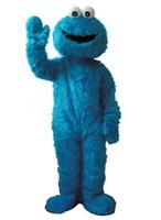 Mavi Çerez Canavar Maskot kostüm Fantezi Elbise Yetişkin boyutu Cadılar Bayramı kostümleri