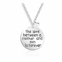 O Amor Entre uma Mãe E Filho Alfabeto Coração Pingente Colares Dia Das Mães Presente Da Jóia Frete Grátis