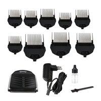 Kemei Km-6032 tagliacapelli fai da te taglierine per capelli elettrico taglierina professionale per uomo rasoio barba tagliente cordless 9 x il pettine del taglio nuovo