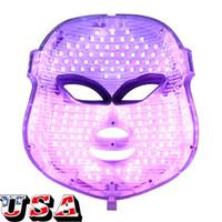 EE.UU. envío rápido común LED Photon 7 colores de luz LED de la piel facial de la máscara del acné Manchas Rejuvenecimiento
