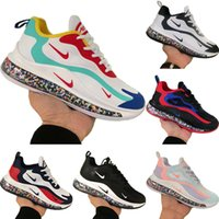 2020 React720 Suede Knit emenda respirável Running Shoes Originals Reac270 All Zoom Air Built-in Tampão Partículas Jogger Sneakers