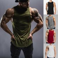 Yaz Running yelek erkekler kas Kolsuz Spor Tişörtlü Vücut Tank Top Gym Fitness Egzersiz Gömlek Spor Yelek Atlet