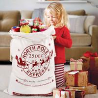 19 أنماط عيد الميلاد سانتا أكياس الرباط قماش سانتا كيس عيد الميلاد قماش حقيبة كبيرة هدية سانتا كلوز حقيبة 50 * 70cm