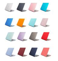 Macbook Hava Pro 11 12 13 inç Mat Sert Ön Geri Tam Vücut Laptop Kılıfları Kabuk Kapak A1369 A1466 A1708 A1278 A1765