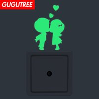 Decorate Home Diy boys girls cartoon art glow wall sticker d...