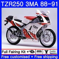키트 YAMAHA TZR250RR 용 화이트 카울링 핫 TZR-250 TZR 250 88 89 90 91 바디 244HM.32 TZR250 RS RR YPVS 3MA TZR250 1988 1989 1990 1991 페어링