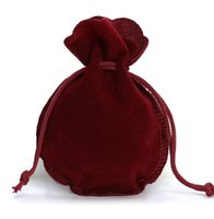 50PCS 2 مقاسات كالاباش التعبئة الرباط المخملية الحقيبة الكيس حقيبة هدية للمجوهرات الأمور حفل زفاف حبة تخزين الحاويات