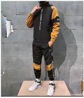 Вышивка спортивные костюмы спортивный стиль весна осень 2 шт. наборы цветов панельные модные костюмы одежда Мужская дизайнер письмо