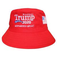 الكلاسيكية ترامب المطرزة دلو كاب تبقي أمريكا العظمى قبعة القطن الرياضة صياد كاب الأزياء سفر التخييم قبعة الشمس TTA896