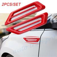 Moulage véhicules Rouge Universal Auto Fender Porte de capot Jeux de Simulation de débit d'air Grille d'entrée Vent Accessoires Garniture Décore