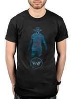 Westworld Blue Black Casual funny Short Sleeved pure Cotton ...