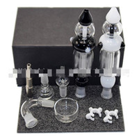 14 mm 19 mm Nectar Kits Micro NC GlassStainless Stahlspitze Honig Straw Mini Kit Bong Handtuch dhl shipiing