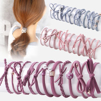 1 Set Simple High Elasticity Scrunchie Women Girls Elastic Hair Rubber Complies To Women Tet Hair Ring Rope Headwear
