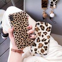 Леопардовый телефон чехол для iPhone 11 Pro Max XS XR X 8 7 6 6S Plus случая силикона Роскошные Ремешок крышки