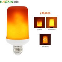 HaoXin الأصفر الأزرق LED E27 لهب أضواء تأثير AC 85-265V 3 طرق النار الخفقان مضاهاة حقنة LED الشعلة مصباح 2835SMD 99LEDs