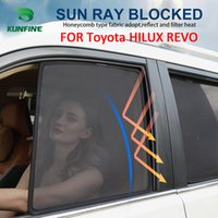 Cinco Estilos Opcional Magnético Janela Lateral Do Carro SunShades Malha Sombra Cego Para Toyota HILUX REVO