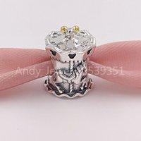 Authentic 925 Sterling Silver Perline Carousel Charm di Pandora Charms Adatto Bracciali europei Bracciali per gioielli in stile Pandora 7501057370344p