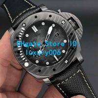 2019 Movimiento de la Nueva Modelo Relojes PAM00979 PAM979 automático Negro Cara Súper luminoso Negro correa de los hombres suizos de 47 mm Tamaño del reloj grande