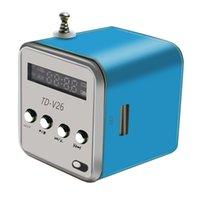 بلوتوث المتكلم المحمولة مصغرة TD-V26 مركبتي ستيريو الصوت مكبرات الصوت راديو fm tf u القرص فتحة متعددة المتكلم الصوت الرقمي mp3 + الشاشة مربع والتجزئة