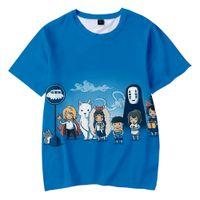 Ruh Dışarıda Çocuk Tshirt Studio Ghibli Miyazaki Hayao 3D Tişörtlü Grafik Tees Boys / kızlar Karikatür Komik Tişört Çocuk Giyim