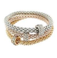 Catena elastica del vestito tricolore, 3pcs Braccialetto del braccialetto del Braccialetto del Braccialetto del Braccialetto del braccialetto del fascino della catena della mano di mais