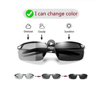 Óculos de Photochromic Sunglasses Men polarizada Driving Chameleon Óculos Masculino mudança da cor dos vidros de Sun Day Night Vision driver