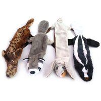 4 Packs Dog Squeaky Toys No Stuffing Squeaky Crinkle Plush D...
