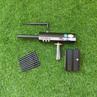 Detección de de largo alcance de la antena negra 10 de oro, plata, cobre y gemstone AKS Tesoro subterráneo Hunter Detector de metales