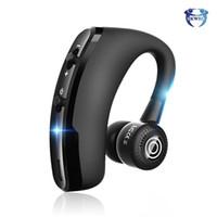 V9 İş Bluetooth Kulaklıklar Gürültü Kulaklık Kulak Kanca Spor Kablosuz Kulaklık Handsfree iphone 11 12 Pro Samsung S20 S10