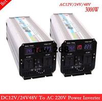Freeshipping 3KW 3000W convertitore di frequenza 3000 W puro inverter a onda sinusoidale 3000W Grid Tie convertitore inverter monofase picco 6000 W 50Hz / 60Hz.