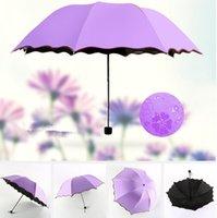 Completa Automatic Umbrella Unisex 3 Folding leve e durável 8K fortes chuvas 30pcs Crianças chuvoso ensolarado guarda-chuvas ao ar livre Gadgets CCA11780