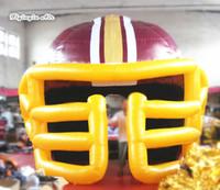 Propaganda ao ar livre capacete inflável 5m altura esportista porta entrada ar soprado túnel para o evento de futebol