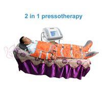 16 pcs air bags 2 em 1 pressão de ar luz infravermelha distante sauna cobertor pressoterapia drenagem linfática spa equipamentos de massagem