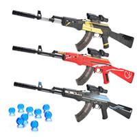 소년 야외 완구 스나이퍼 무기 무기 에어건 에어 건 선물을 촬영 폭행 수동 소총 AK 47 물 총알