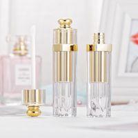 Bellezza di trucco 5ml Svuotare Lucidalabbra tubo Bottle Lip Tint olio Fiale contenitori Lipgloss tubo oro Lip Balm Tubi con bacchette d'argento