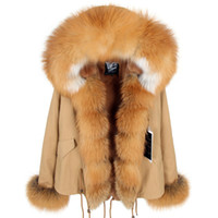 The arctic fox fur collar and 2 Placket   cuff warm for Wome...