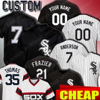 Chicago Custom White Sox Jerseys 7 Tim Anderson Jersey 35 Fr...