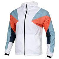2019 otoño nuevos hombres chaqueta de costuras de punto deportivo correr fitness a prueba de viento chaqueta con capucha al aire libre Ropa de abrigo para hombres Sudaderas con capucha
