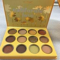 nova Colourpop California Love Paleta 12 Cores Maquiagem Set Abóbora alaranjada cor da paleta da sombra frete grátis