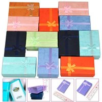 12Pcs Mixed Color Jewelry Gift Paper Boxes Organizers for Ri...