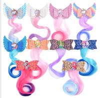 Arco infantil curly peruca acessórios cor desenho animado unicórnio festa peruca trança cabelo clipe 10 cores frete grátis