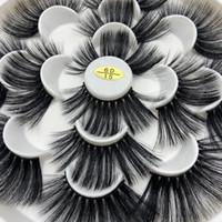 Buzzme 6D15 25mm 자연 가짜 속눈썹 7 쌍 가짜 속눈썹 긴 메이크업 6D 가짜 밍크 속눈썹 속눈썹 연장 실크 속눈썹