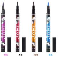 ANQINA 36h водонепроницаемый подводка для глаз yanqina макияж карандаш черный коричневый синий фиолетовый 4 цвета ручка жидкая подводка для глаз косметика длительный