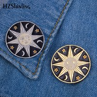 2019 New Celestial Bodies Sun Enamel Pin Badge Moon and Star...
