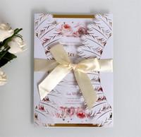 Biglietto d'auguri stile piuma bianca scava fuori carta invito a nozze carta kraft busta moda creativa vendere bene bianchi colore 2 6dd j1
