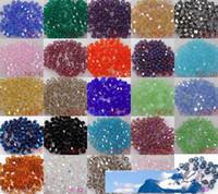 Оптовая 1000шт / серия кристалл распорка 5301 # шариков DIY U Пика Бесплатная доставка 4мм Bicone